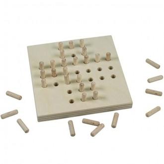 Puzzle a hlavolamy - Hlavolam dřevěný - Solitér přírodní (Detoa)