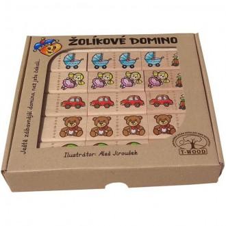 Dřevěné hračky - Domino - Masiv, Žolíkové hračky, 28ks