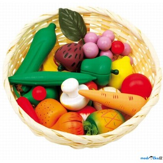 JIŽ SE NEPRODÁVÁ - Dekorace prodejny - Koš ovoce a zelenina (Legler)