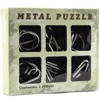 Puzzle a hlavolamy - Hlavolam kovový - Set 6ks v krabičce (Teddies)