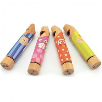 Dřevěné hračky - Hudba - Píšťala velká barevná, 1ks (Classic World)
