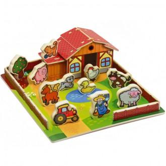Dřevěné hračky - Farma dřevěná - Moje první zvířátka (Teddies)