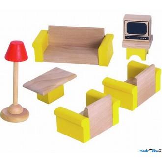 Dřevěné hračky - Nábytek pro panenky - Obývací pokoj (Woody)