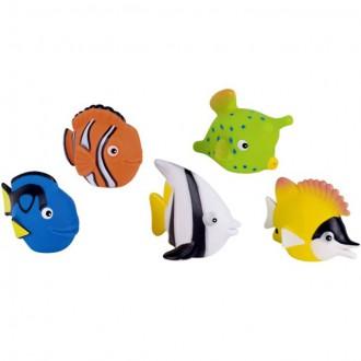Ostatní hračky - Hračka do vody - Stříkací rybičky, 5ks (Goki)
