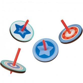 Dřevěné hračky - Drobné hračky - Káča dřevěná, Červeno-modrá, 1ks (Goki)
