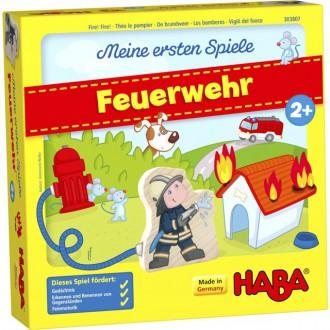 Dřevěné hračky - Společenská hra - Od 2 let, Požárníci (Haba)