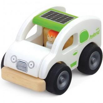 Dřevěné hračky - Auto - Miniworld, Eko vůz dřevěný (Wonderworld)