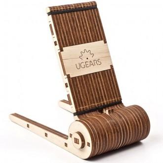 Stavebnice - 3D mechanický model - Stojánek na mobil (Ugears)