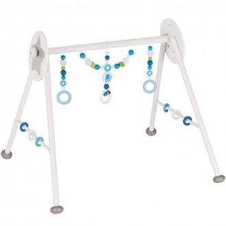 Pro nejmenší - Hrazdička - Dřevěná hrazda nastavitelná, Slon modrý (Heimess)