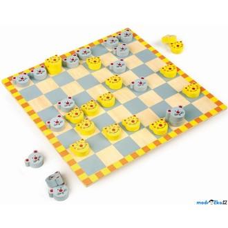 Dřevěné hračky - Dáma - Myši proti kočkám (Legler)