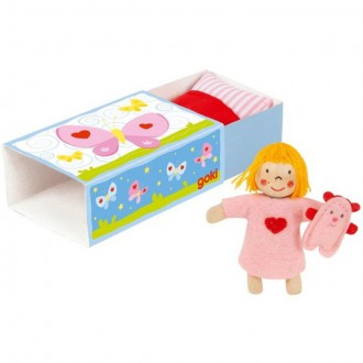 Dřevěné hračky - Drobné hračky - Panenka na dobrou noc, 12 dílů (Goki)
