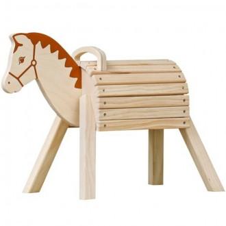 Pro nejmenší - Dřevěný koník - Přírodní s madlem (Goki)