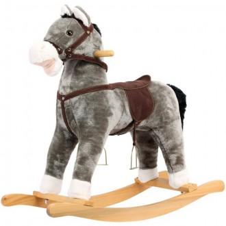Pro nejmenší - Houpadlo - Houpací kůň, Plyšový šedivý (Bino)
