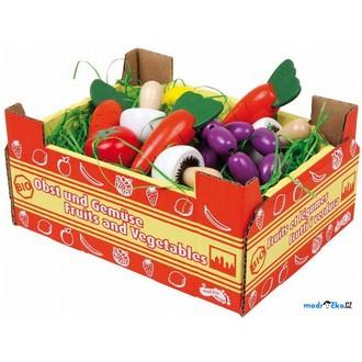 Dřevěné hračky - Dekorace prodejny - Krabice se zeleninou (Legler)