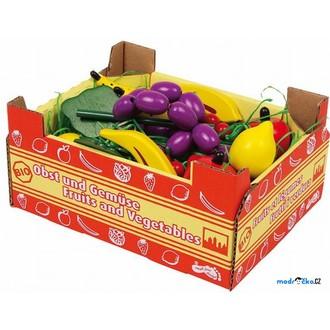 Dřevěné hračky - Dekorace prodejny - Krabice s ovocem (Legler)