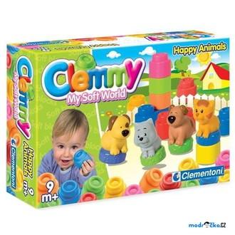 Stavebnice - Clementoni - Clemmy, Zvířátka a barevné kostky