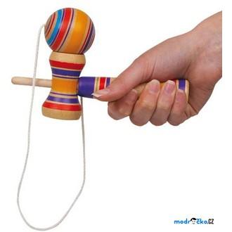 Dřevěné hračky - Motorická hra - Kendama barevná (Legler)