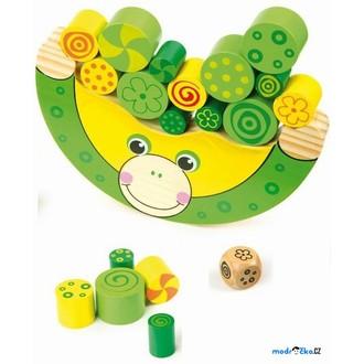 Dřevěné hračky - Motorická hra - Balancující žába (Legler)
