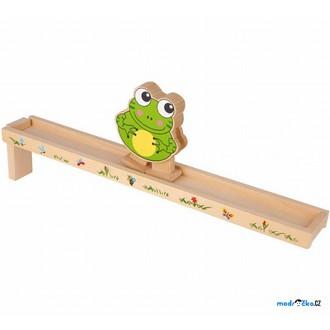 JIŽ SE NEPRODÁVÁ - Chodicí hračka - Žába barevná (Legler)