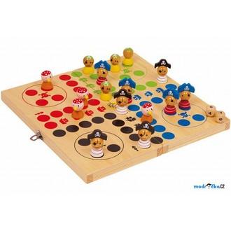Dřevěné hračky - Člověče, nezlob se - Piráti, dřevěné figurky (Legler)