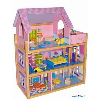 Dřevěné hračky - Domeček pro panenky - Pinky, velký s výtahem (Legler)