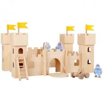Dřevěné hračky - Hrad dřevěný - Rytířský hrad Natur (Legler)