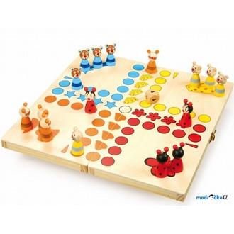 Dřevěné hračky - Člověče, nezlob se - Zvířátka (Legler)