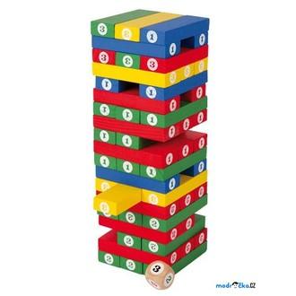 Dřevěné hračky - Jenga barevná - S čísly (Legler)