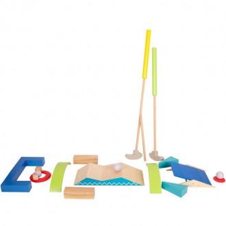 Na ven a sport - Golf dětský - Dřevěný minigolf set Active (Legler)