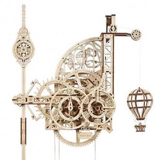 Stavebnice - 3D mechanický model - Aero Clock, Nástěnné hodiny (Ugears)