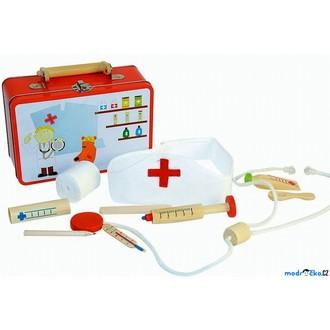 Dřevěné hračky - Doktor - Set v kufříku, Doktorka (Woody)
