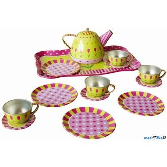 Dřevěné hračky - Kuchyň - Dětský čajový set, plechový (Bino)