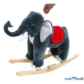 JIŽ SE NEPRODÁVÁ - Houpadlo - Houpací slon plyšový (Bino)