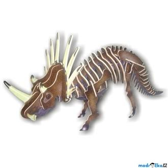 Puzzle a hlavolamy - 3D Puzzle barevné - Styracosurus