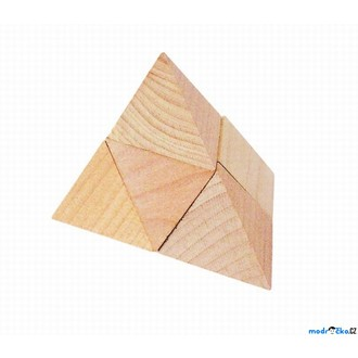 Puzzle a hlavolamy - Hlavolam dřevěný - Pyramida (Goki)