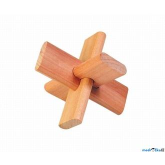 Puzzle a hlavolamy - Hlavolam dřevěný - Kříž (Goki)
