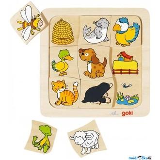 Puzzle a hlavolamy - Puzzle výukové - Domovy zvířátek (Goki)