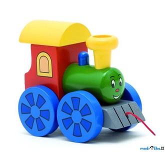 JIŽ SE NEPRODÁVÁ - Vlak tahací - Mašinka barevná (Woody)