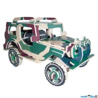Puzzle a hlavolamy - 3D Puzzle barevné - Jeep