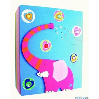 JIŽ SE NEPRODÁVÁ - Fotoalbum - Modré se slonem, na 80 fotek 10x15cm (Woody)