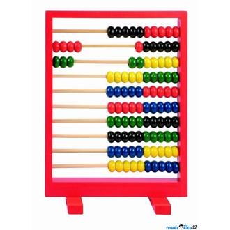 Dřevěné hračky - Počítadlo - Červené (Woody)