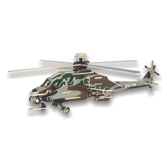 Puzzle a hlavolamy - 3D Puzzle barevné - Helikoptéra Apache