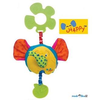 Pro nejmenší - K's Kids - Šťastný slon s úchytem na kočárek