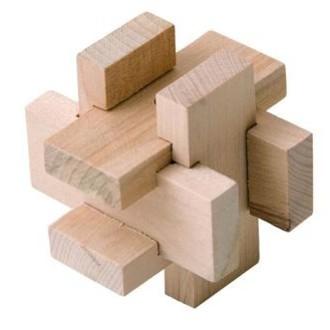 JIŽ SE NEPRODÁVÁ - Hlavolam dřevěný - Kvádry (Woody)
