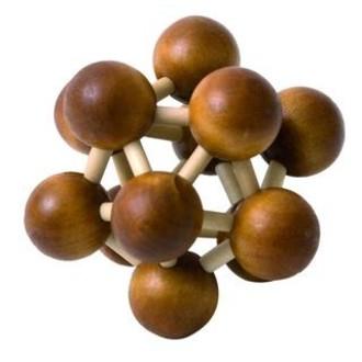 JIŽ SE NEPRODÁVÁ - Hlavolam dřevěný - Molekula (Woody)