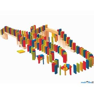 Dřevěné hračky - Dominová dráha - Domino Rally, 200ks (Woody)