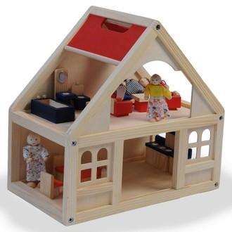 JIŽ SE NEPRODÁVÁ - Domeček pro panenky - S vybavením (Woody)