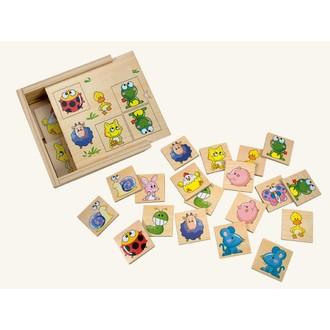 Dřevěné hračky - Pexeso - Zvířátka, 24ks (Bino)