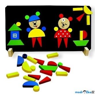 Puzzle a hlavolamy - Puzzle magnetické - Medvědi (Detoa)