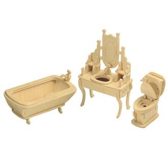 Puzzle a hlavolamy - 3D Puzzle přírodní - Koupelna